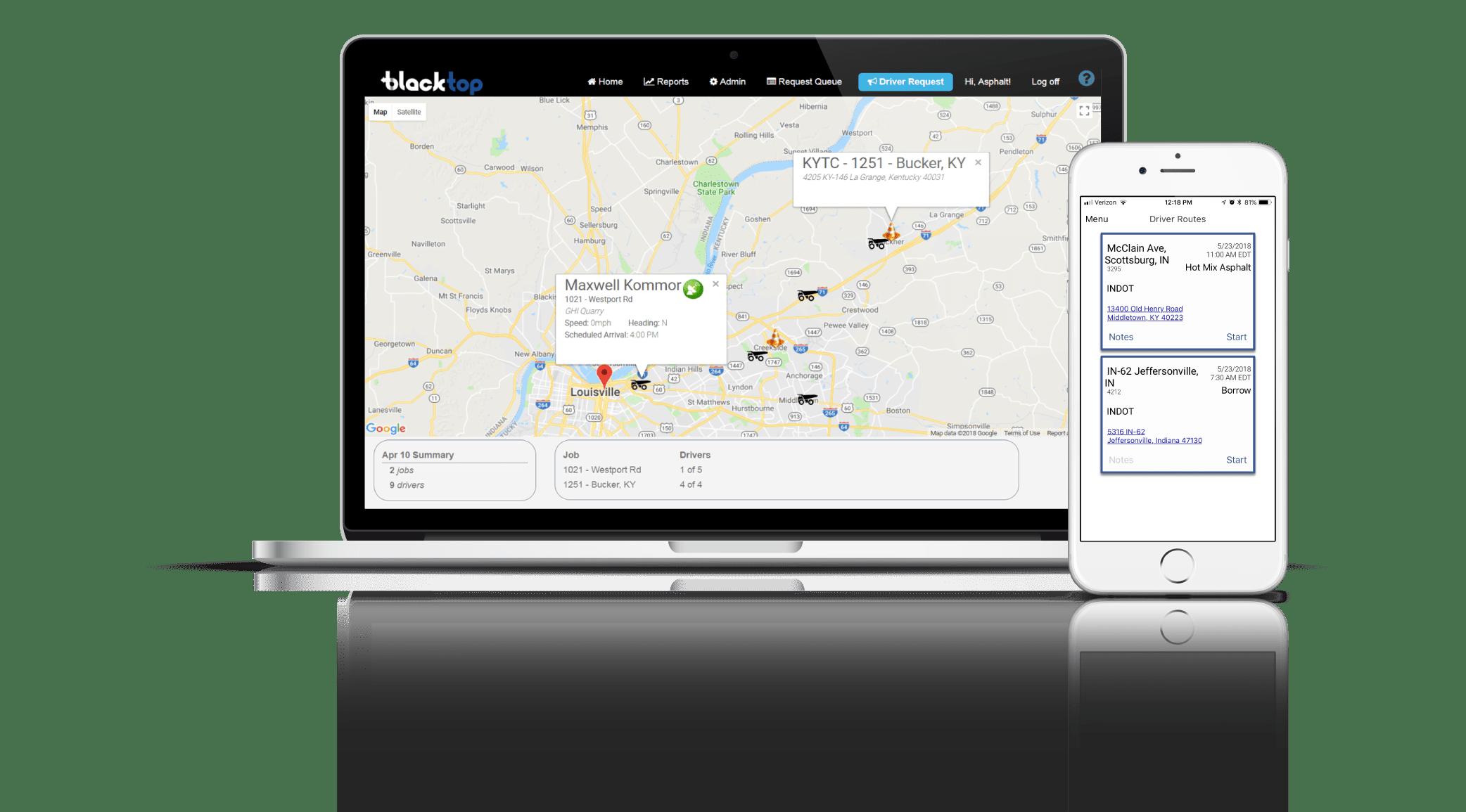 Meta Construction Technologies, LLC - BlackTop - Asphalt Mobile Tracking and Dispatch Platform