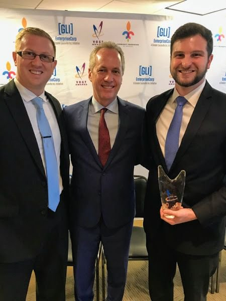 Meta Construction Technologies, LLC - 2017 Vogt Award Mayor Greg Fischer Henry Heuser Louisville - Asphalt Mobile Tracking and Dispatch Platform
