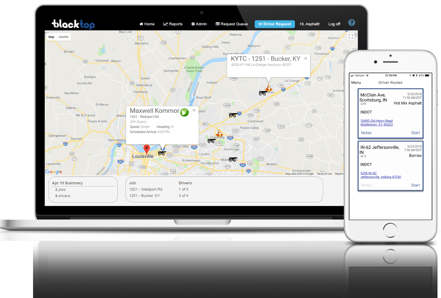 Meta Construction Technologies, LLC - BlackTop - Asphalt Mobile Tracking and Dispatch Platform
